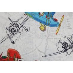 Портьерная ткань для штор Airplanes V 1