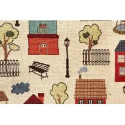 Портьерная ткань Houses Beige